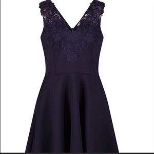Ted baker London NWT Navy Lace cocktail dress 14